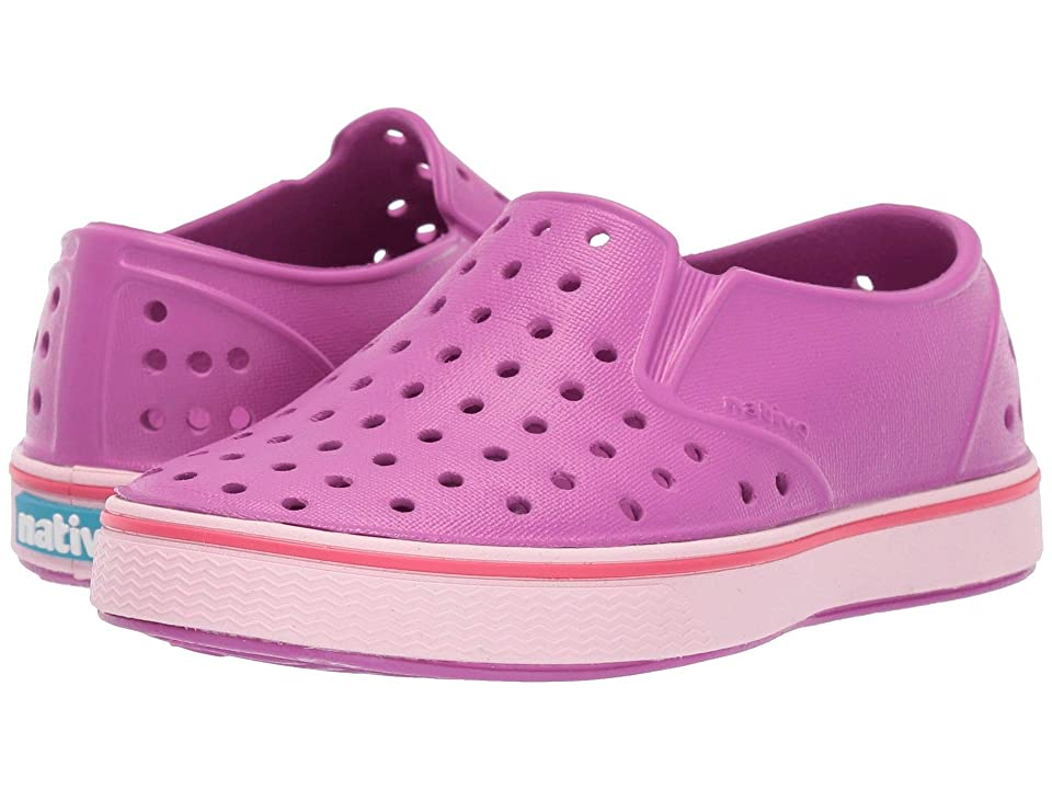 Native Kids Shoes Miles (Toddler/Little Kid) (Origami Purple/Blossom Pink) Girls Shoes
