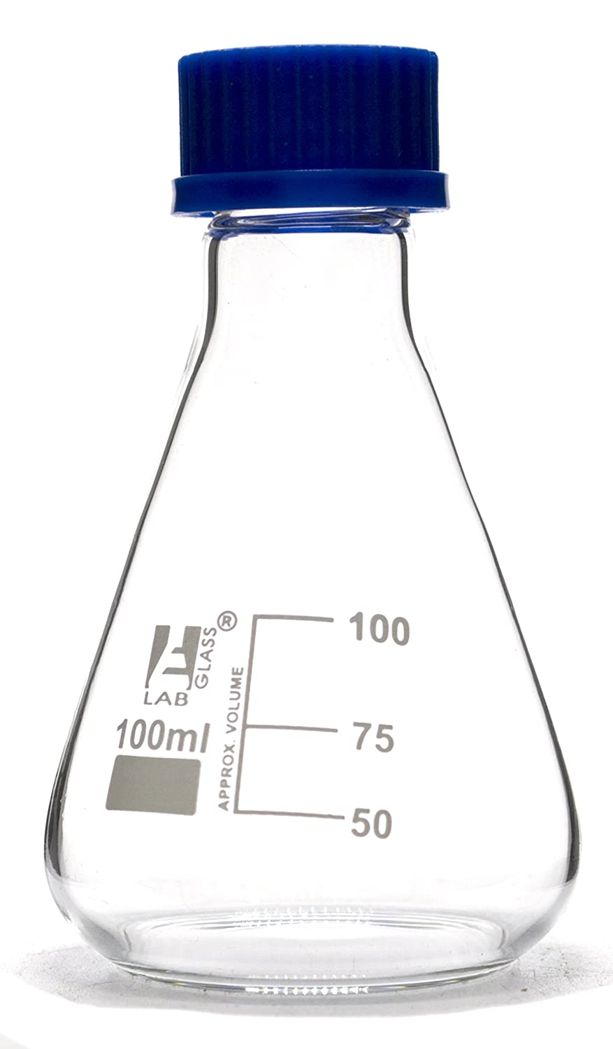 Erlenmeyer Flask 100ml It is very popular - Borosilicate PTFE with Glass Screw C Max 66% OFF