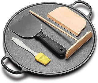 Kommersiell stor crepe pan, verktyg gjutjärnspott 29 cm nonstick beläggning Easy pannkakor omelett stekt ägg tortilla