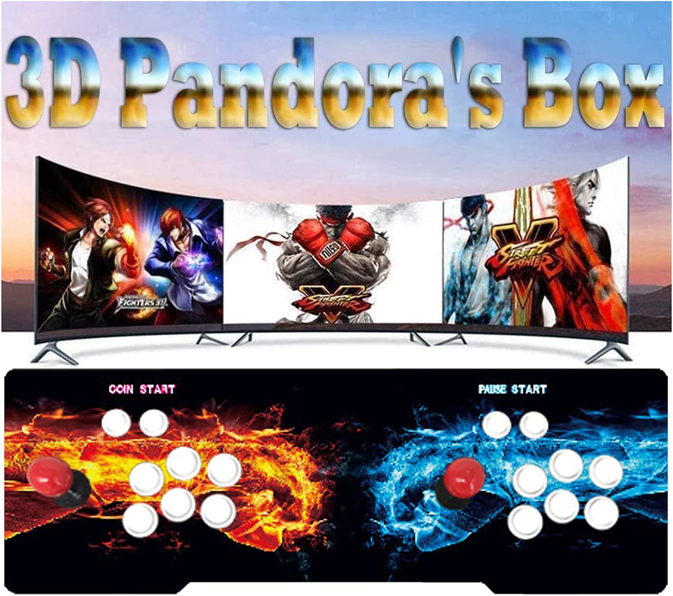 TANCEQI Pandora gift Box X Retro Video Game Console Arcade Games Award 3303