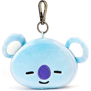 BT21 Official Merchandise by Line Friends - KOYA Character Doll Face Keychain Ring Cute Handbag Accessories