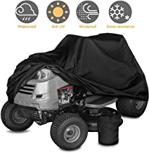 Jacriah Lawn Mower Cover Tractor Cover Heavy Duty 210D Polyester Oxford Lawn Tractor Cover Durable Waterproof UV Protection Universal Fit Drawstring Storage Bag Fits Decks up to 24'' L67W24H46