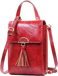 REETEE Bandolera Pequeña Mujer Cuero PU Cartera Bolso de Teléfono Móvil para Mujer, Mini Crossbody Bag Bolso Movil Mujer M...