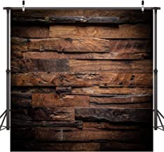 CYLYH 8x8ft Photography Backdrop Brown Wood 3D Backdrops for Picture Customized Vinyl Photo Background D104