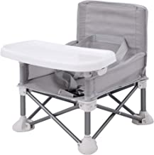POHOVE Baby Seat Booster High Chair Aluminum Alloy Children Dining Chair Portable Space Saving Booster Chair,Portable High Chair Folding Feeding Booster Safety Belt//Food Tray//Travel Bag