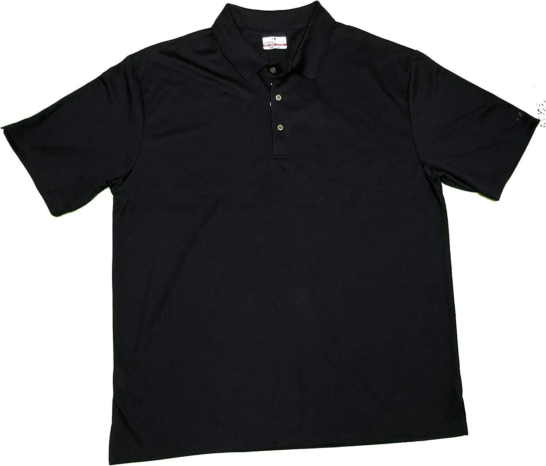 GrandSlam Big & Tall Men's Short Sleeve Polo Shirt Black 2XLT