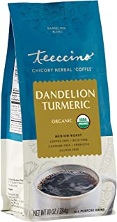 Teeccino Coffee Alternative – Dandelion Turmeric – Detox Deliciously with Dandelion, Turmeric, Licorice & Ginger – Prebiot...
