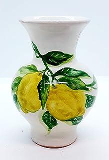Portafiori Linea Limoni Realizzato e Dipinto a mano Le Ceramiche del Castello Nina Palomba Made in Italy Pezzo Unico Dimen...