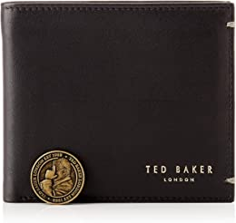 Leather Billfold Homme Wallet Noir