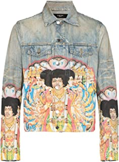 Amiri Luxury Fashion Mens Y0M04382DEBIN Light Blue Jacket | Spring Summer 20