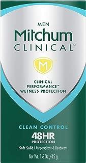 Mitchum Men Clinical Soft Solid Antiperspirant Deodorant, Clean Control, 1.6oz.