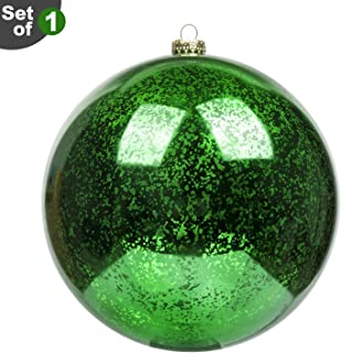 KI Store Extra Large Christmas Ball Ornament 8 Inch Green Oversized Mercury Ball Decorative Hanging Decoration for Xmas Party