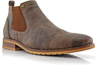 Sterling MFA606325 Mens Casual Chelsea Slip on Ankle Boots