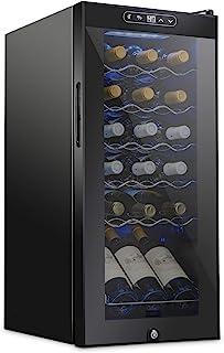 Schmecke 18 Bottle Compressor Wine Cooler Refrigerator w/Lock | Large Freestanding Wine Cellar | 41f-64f Digital Temperatu...