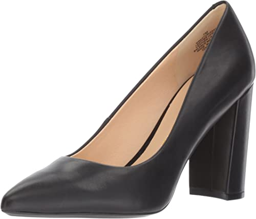 Nine West Wohommes Astoria Pump, noir Leather, 9.5 Medium US