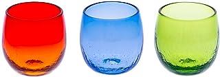 たるグラス3個セット(オレンジ・青・緑)