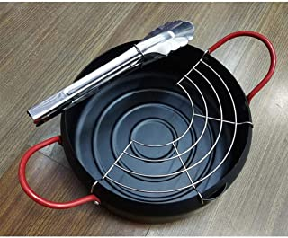 DSstyles Nonstick Pot,22CM Fryer Home Universal Nonstick Pot for Home Gas Stove Electromagnetic Furnace black