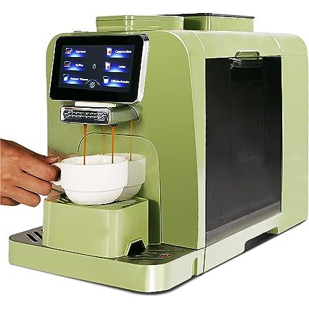 Mcilpoog WS-T6 Super-automatic Espresso Coffee Machine With Smart Touch Screen,System Design for Milk Tank Refrigeration For Brewing Americano,Cappuccino, Latte,Espresso Drinks…