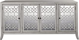 New Classic Furniture Accent Charlotte 4 Door Credenza, Cloud Gray,