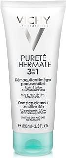 Vichy Pureté Thermale One Step Cleanser for Sensitive Skin, 3.3 Fl Oz