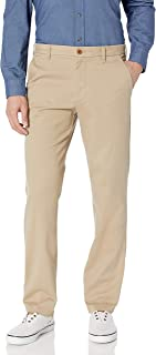 IZOD Men's Performance Stretch Straight Fit Flat Front Chino Pant
