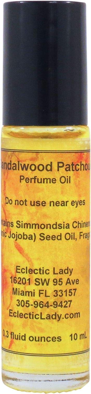 Sandalwood Patchouli Perfume Oil, Small - Organic Jojoba Oil, Ro