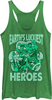 dd4604c955a22 Marvel Women s St. Patrick s Day Earth s Luckiest Heroes Racerback ...