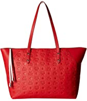 MCM - Klara Monogrammed Leather Charm Top Zip Shopper Medium