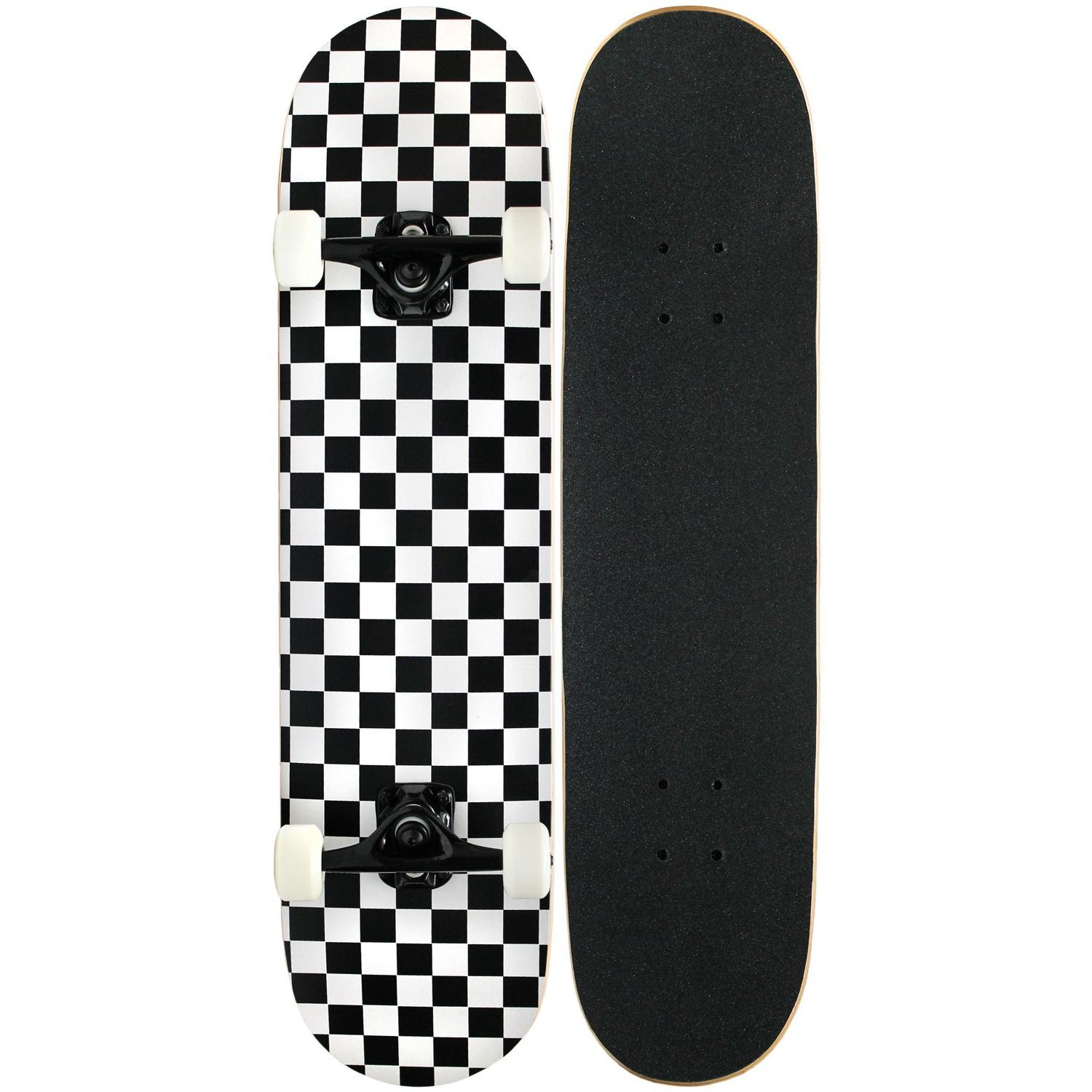 KPC Skateboard Complete Black Checker
