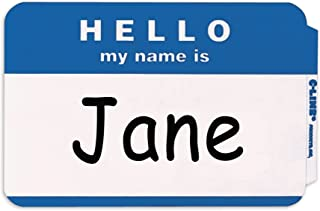 C-Line Pressure Sensitive Peel and Stick Badges, Hello My Name Is, Blue, 3.5 x 2.25 Inches, 100 per Box (92235)