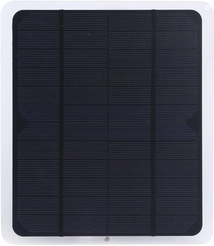 CUTULAMO Paneles fotovoltaicos, Panel de batería Solar de Panel Solar para Ventilador pequeño USB