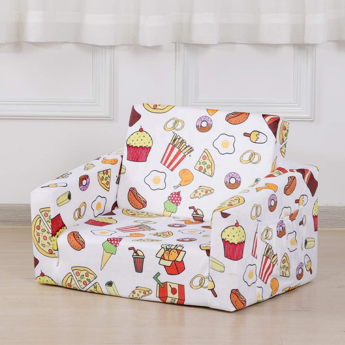 Kid Sofa New Shipping Free Chair Velvet Children's 2 Foam Bed Jacksonville Mall Flip 1 in Open