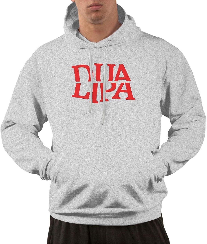 Zinmmerm Men's Fashion DuaLipa Logo Hooded Sweatshirt
