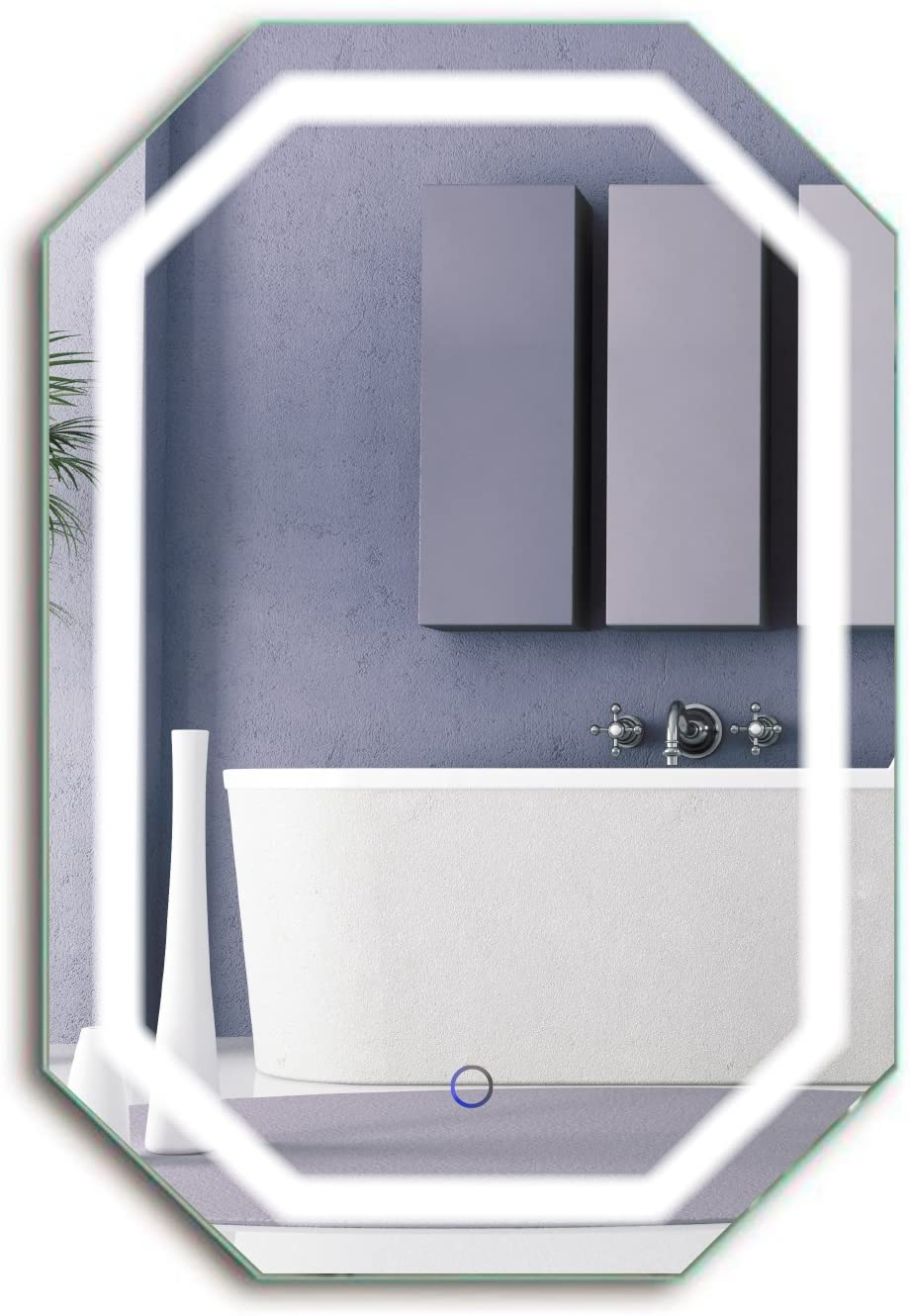 Krugg Octagon LED Bathrom Finally resale start Mirror 20 Beauty products 30 Lighted X Wal Inch
