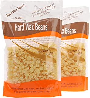 Bonjanvye Hard Wax Kit Hair Removal Wax Kit Hard Wax Beans Kit Prime 300g Honey