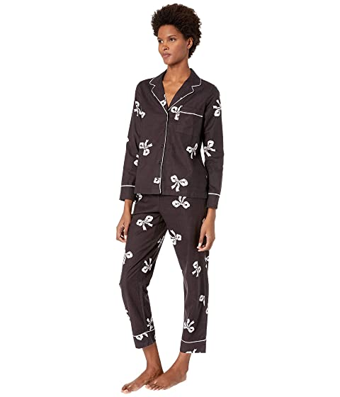 060ad29d Kate Spade New York Brushed Twill Long Pajama Set at Luxury.Zappos.com