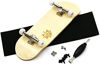 Teak Tuning Prolific Complete Fingerboard with Upgraded Components - Pro Board Shape and Size, Bearing Wheels, Trucks, and Locknuts - 32mm x 97mm Handmade Wooden Board - The Classic Edition
