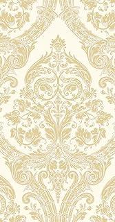 Ideal Home Range 16-Count 3-Ply Paper Guest Towel Napkins, Gold Grandeur