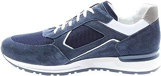Nero Giardini P900831U Sneakers Uomo in Pelle, Camoscio E Tela