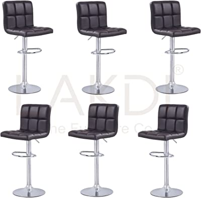 Lakdi Bar Stool Bar Chair with Footrest Set of 6 Combo MFN(132117_7_C_6)