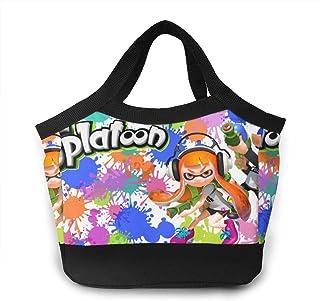 防水 大きめ軽量 Splatoon-2 保冷保温ランチバッグ ランチトート ファスナー ランチバッグ 食品収納 通勤 通学 遠足 ピクニック 弁当袋