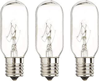 40 Watt Microwave Bulb GE - Microwave Light - Fits Most GE and Whirlpool Ovens - E17 Intermediate Base Bulb - 40 Watt 130 Volt Appliance Bulb - 3 Pack - Luvvitt