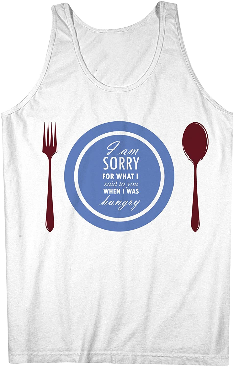 I Am Sorry For What I Said When I Was Hungry おかしいです 男性用 Tank Top Sleeveless Shirt