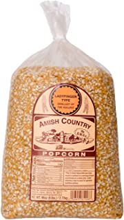 Amish Country Popcorn | 6 lb Bag | Ladyfinger Popcorn Kernels | Old Fashioned with Recipe Guide (Ladyfinger - 6 lb Bag)