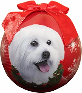 Maltipoo Christmas Ornament Shatter Proof Ball Easy To Personalize A Perfect Gift For Maltipoo Lovers by E&S Pets