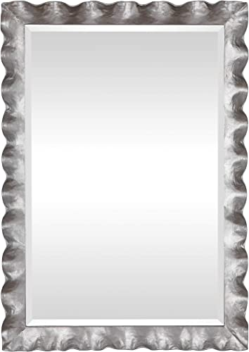 high quality Uttermost 09571 Haya wholesale Whimsical Silver Leaf wholesale Scalloped Framed Wall Mirror sale