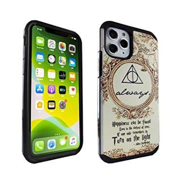 iPhone 11 Pro Case Dumbledore Quotes, IMAGITOUCH 2-Piece Style Armor Case with Flexible Shock Absorption Case & Always Design Cover Hybrid for iPhone 11 Pro (5.8 inch)- Always