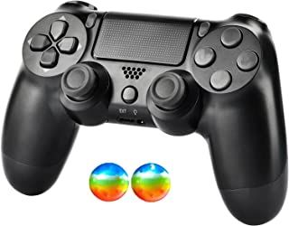 PS4 Controller Black for PlayStation 4 Controller System, PS4 Remote Wireless for DS4 Pro/Windows/iOS/Android, Dual Joysti...