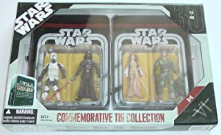 Star Wars Episode VI 6 Collectible Tin Action Figure Set RETURN OF THE JEDI with 4 Action Figures: Biker Scout Trooper, Da...