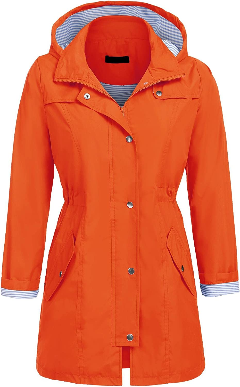 UNibelle Womens Lightweight Raincoat Hooded Waterproof Active Outdoor Rain Jacket SXXL